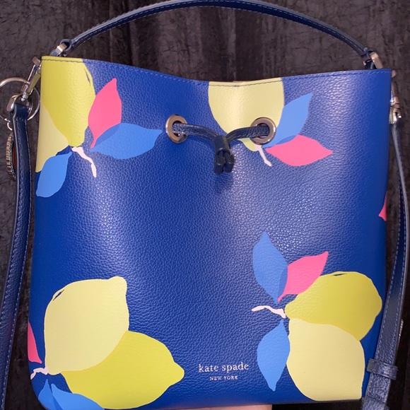 Kate Spade Eva Lemon Zest Large Bucket Bag